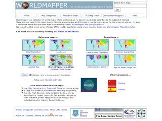 Náhled odkazu http://www.worldmapper.org/