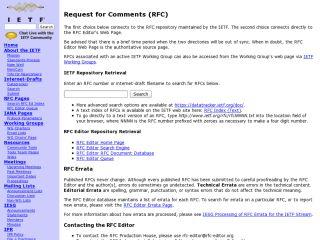Náhled odkazu http://www.ietf.org/rfc.html