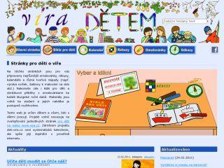 Náhled odkazu http://deti.vira.cz/