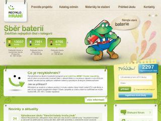 Náhled odkazu http://www.recyklohrani.cz/cs/