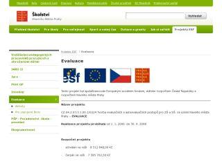 Náhled odkazu http://skoly.praha-mesto.cz/Projekty-ESF/Evaluace