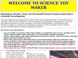 Náhled odkazu http://www.sciencetoymaker.org/