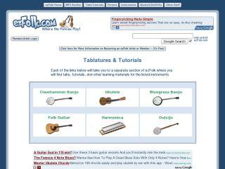 Náhled odkazu http://www.ezfolk.com/tabs-tutorials/tabs-tutorials.html