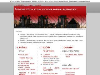 Náhled odkazu http://www.prezentace-fyzika-chemie.wz.cz/fyzika.html