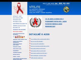 Náhled odkazu http://www.aids-hiv.cz/