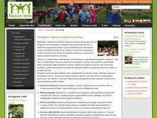 Náhled odkazu http://www.toulcuvdvur.cz/vzdelavani/programy-pro-skoly
