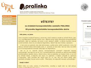 Náhled odkazu http://ufal.mff.cuni.cz/pralinka/