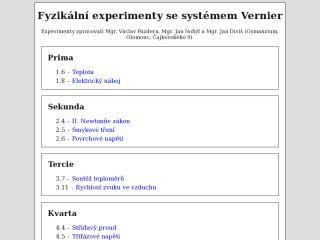 Náhled odkazu http://www.vernier.cz/experimenty/pazdera/index.php