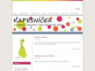 Náhled odkazu http://www.kapesnicek.cz/