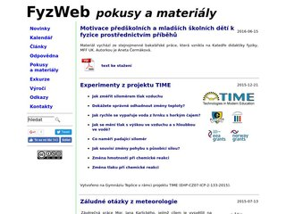 Náhled odkazu http://fyzweb.cz/materialy/index.php