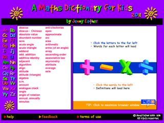 Náhled odkazu http://www.amathsdictionaryforkids.com/dictionary.html