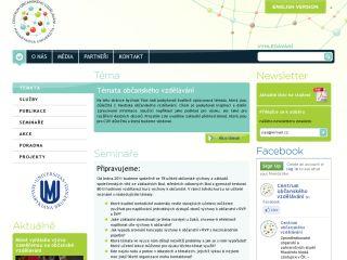 Náhled odkazu http://www.obcanskevzdelavani.cz/