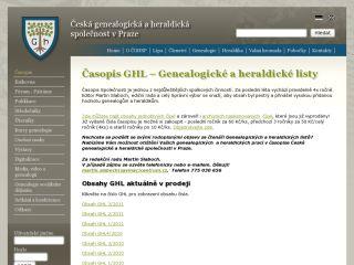 Náhled odkazu http://www.genealogie.cz/aktivity/casopis/