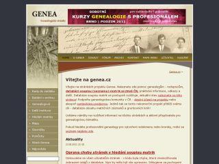 Náhled odkazu http://www.genea.cz/