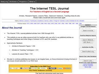 Náhled odkazu http://iteslj.org/