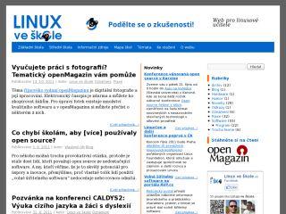 Náhled odkazu http://linuxveskole.cz/