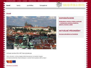 Náhled odkazu http://www.kralovskacesta.cz/cs/uvod.html
