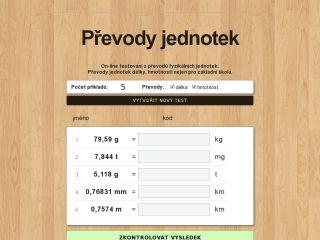 Náhled odkazu http://www.zsvltava.cz/fyzika/prevody/
