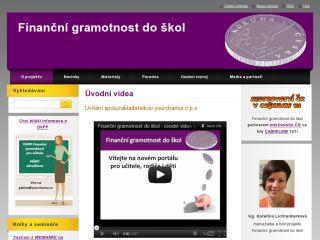 Náhled odkazu http://www.financnigramotnostdoskol.cz/