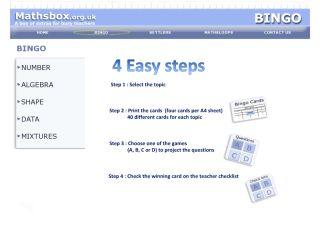 Náhled odkazu http://www.mathsbox.org.uk/index1.php