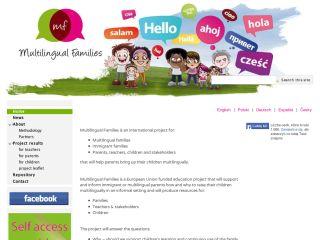 Náhled odkazu https://sites.google.com/site/multilingualfamiliesprojectcz/home