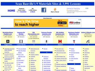 Náhled odkazu http://www.freeeslmaterials.com/sean_banville_lessons.html