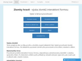 Náhled odkazu https://zlomky-hrave.cz/