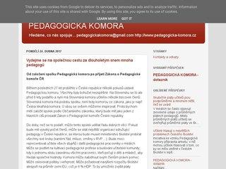 Náhled odkazu http://www.pedagogicka-komora.cz