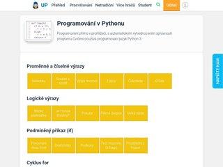 Náhled odkazu https://www.umimeprogramovat.cz/interaktivni-python-for/1